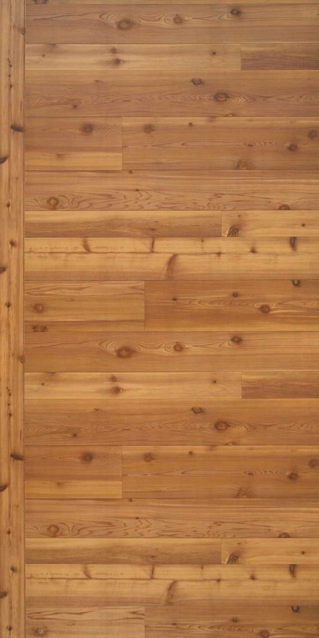 4x8 sheets of Western Red Cedar rustic paneling
