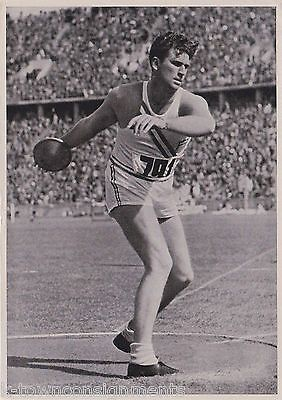 KENNETH CARPENTER 1936 BERLIN OLYMPICS DISCUS THROWER ATHLETE VINTAGE PHOTO CARD