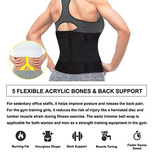 Women Slimming Body Shaper Weight Loss Sweat Belt N Sauna Waist Workout Fitness