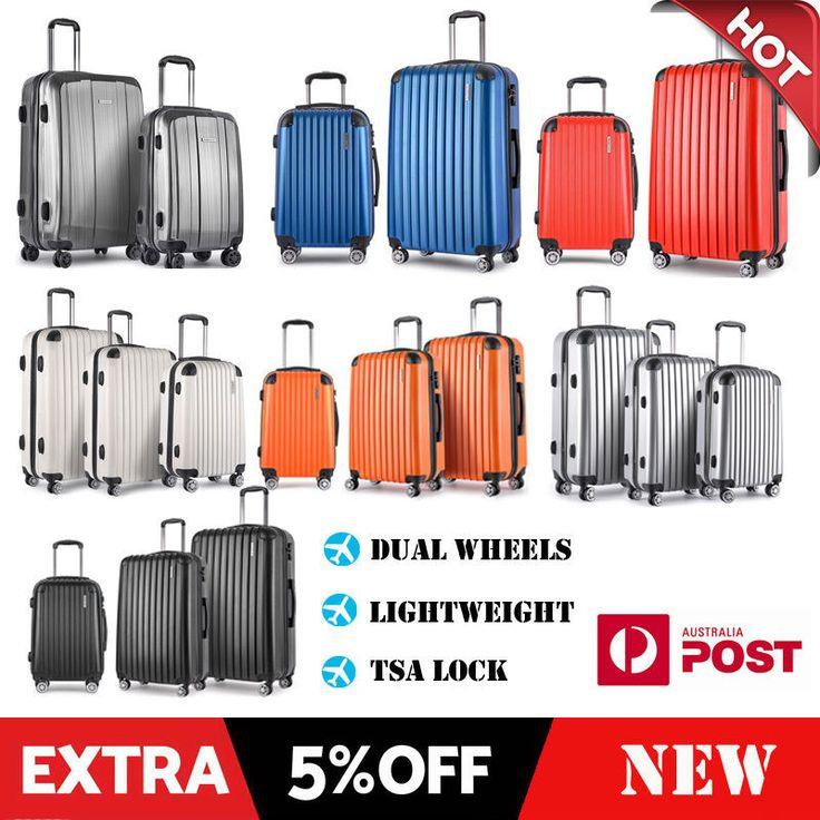 1/2/3 Luggage Suitcase Trolley Set TSA Carry On Hard Case Lightweight Travel Bag