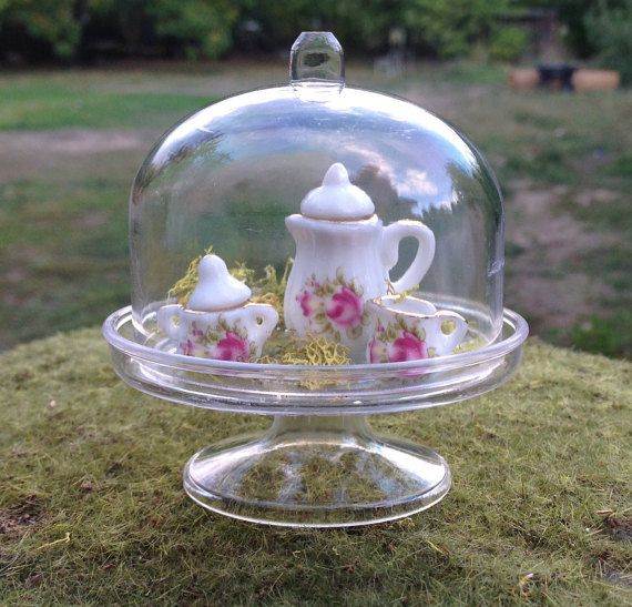 terrarium furniture. miniature terrarium cloche container for fairy by beneaththeferns furniture i