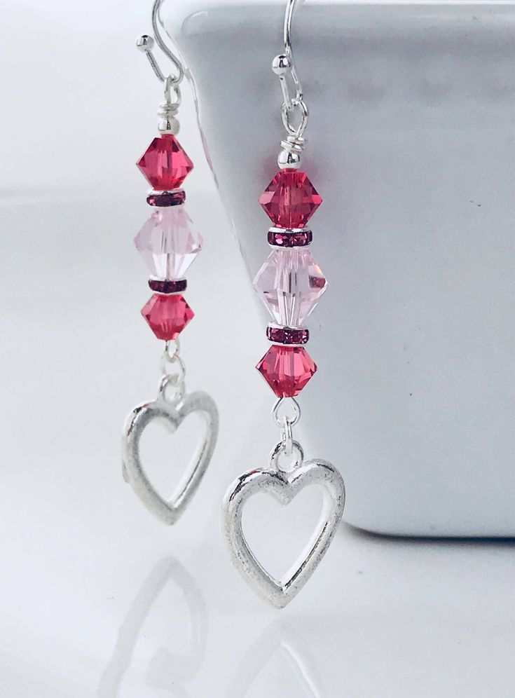 A personal favorite from my Etsy shop https://www.etsy.com/listing/573470654/swarovski-crystal-earrings-heart
