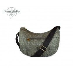 LUNA BAG SMALL IN JET OP BORBONESE