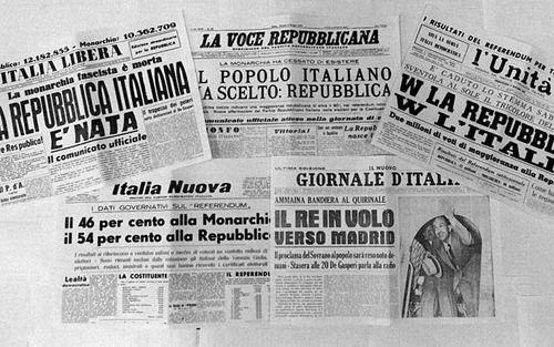 Encabezados de la república italiana