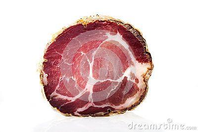 Piece of Italian Capocollo (Cured Pork Shoulder)