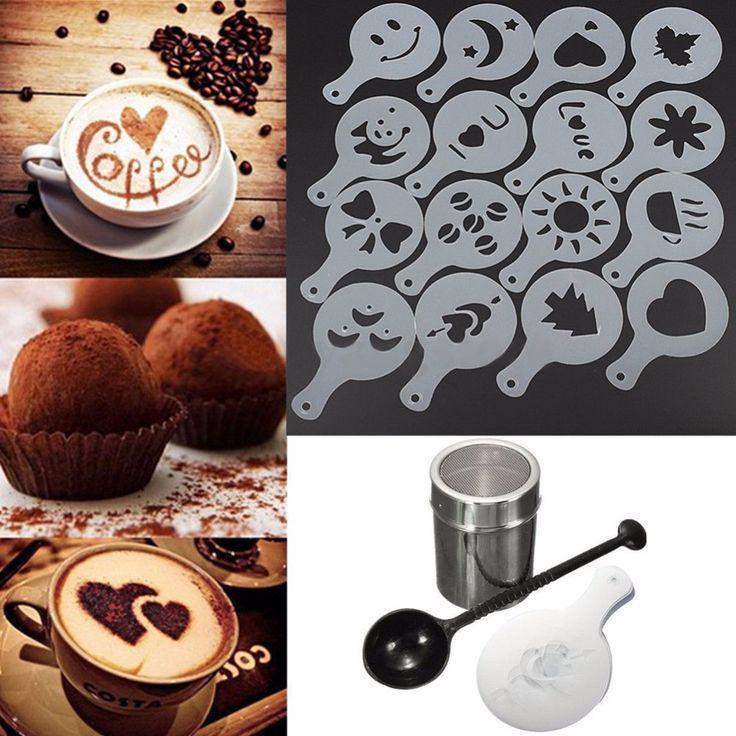 Cappuccino Coffee Stencils 16 Piece Set
