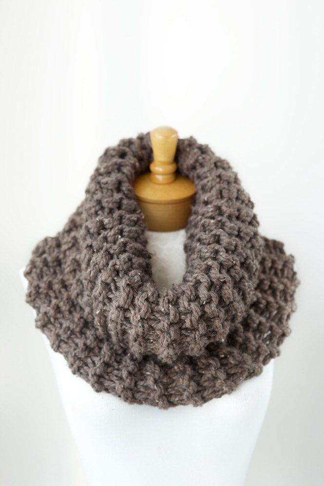 Chunky knit cowl in Taupe Tweed, outlander inspired cowl, chunky infinity cowl, single loop cowl, outlander knit cowl, outlander knits by PikaPikaCreative on Etsy https://www.etsy.com/listing/202658146/chunky-knit-cowl-in-taupe-tweed