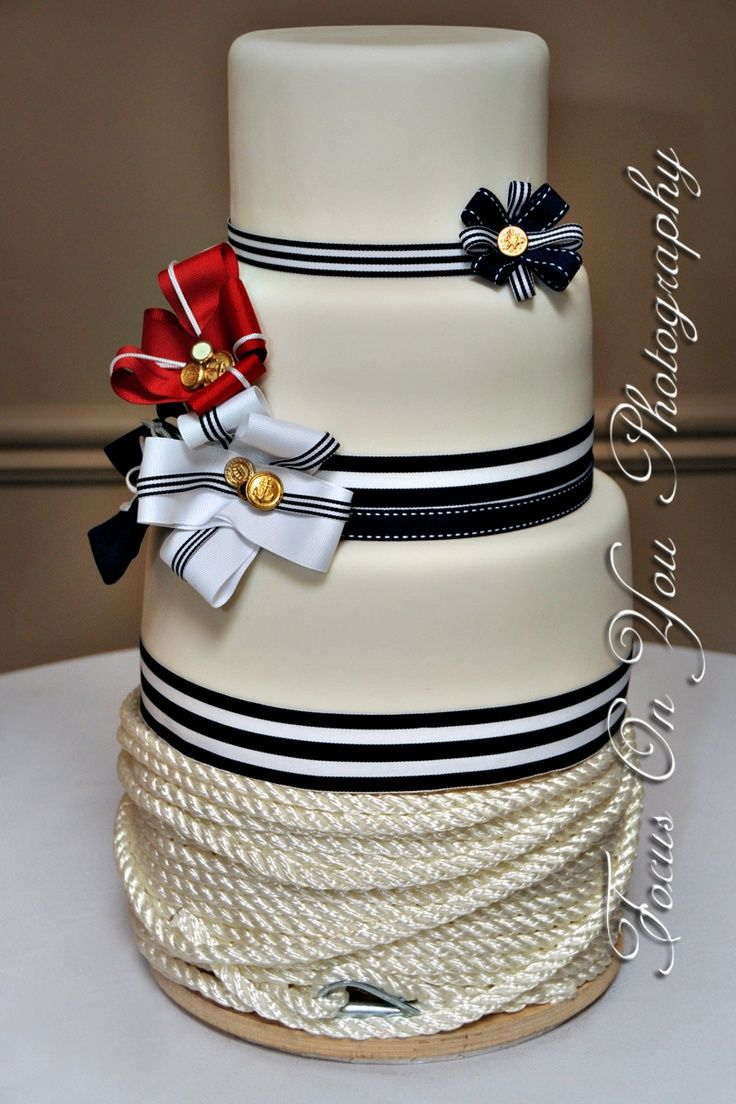 sailor wedding theme | nautical themed wedding cake! | Wedding Ideas