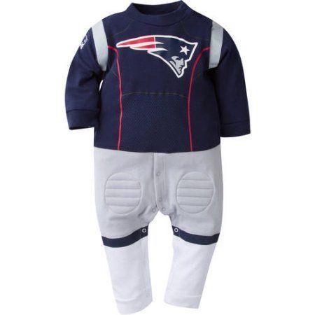 NFL New England Patriots Baby Boys Team Uniform Footysuit, Infant Boy's, Size: 18 Months, Blue