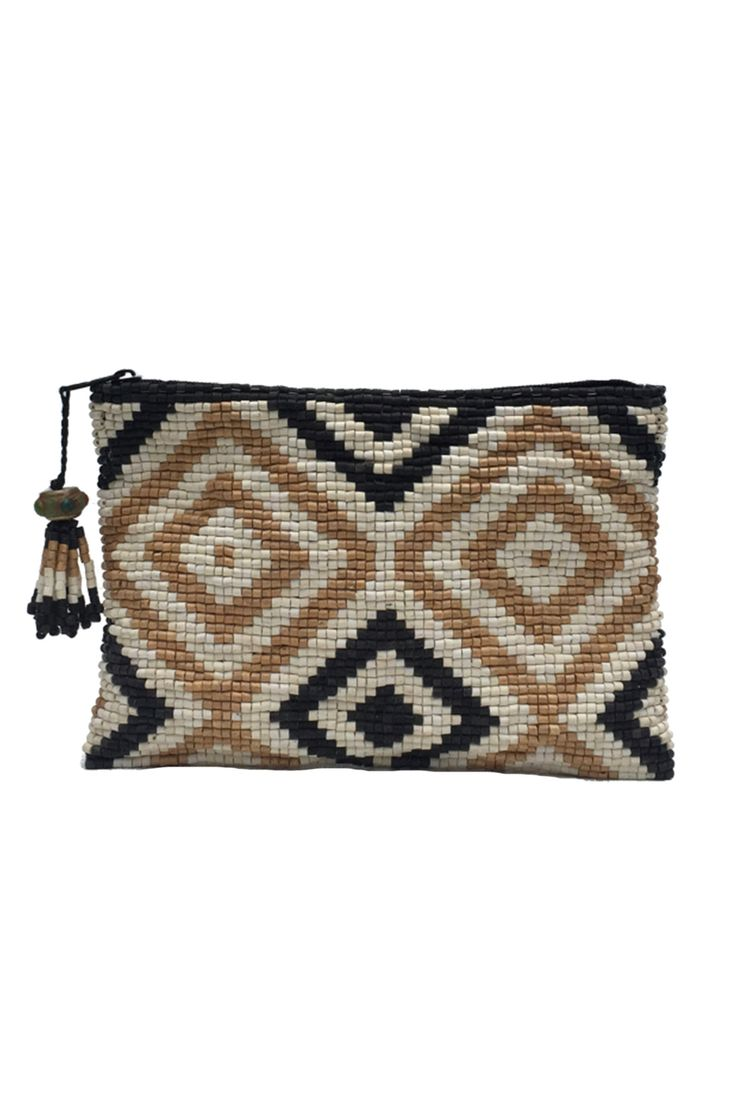 Patzún Ceramic Beaded Clutch