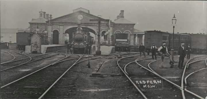 The old Sydney Terminal (Redfern) Railway Station in 1900 looking north.The Benevolent Asylum can be seen in the far left of the picture.The two platforms of this main station building were located level with the current platforms 5 & 6.Photo from National Library of Australia.A♥W
