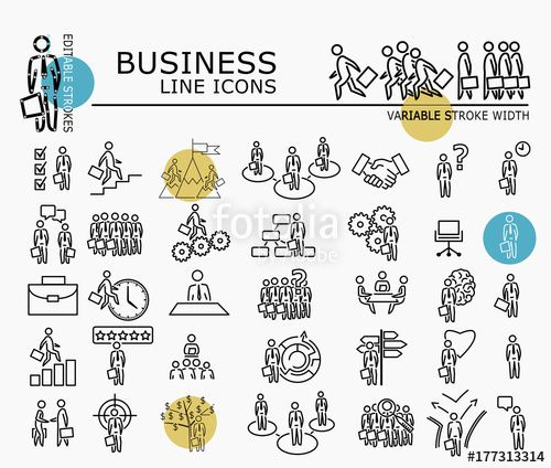 "Download the royalty-free vector ""Business icons with minimal nodes and editable stroke width"" designed by dropix at the lowest price on Fotolia.com. Browse our cheap image bank online to find the perfect stock vector for your marketing projects!"
