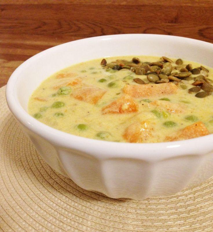 Vellutata di patate dolci al curry