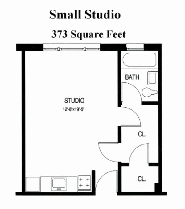 Studio House Plans One Bedroom Best Of Small Studio Apartment Floor Plans Studio Apartment Floor Plans Studio Floor Plans Apartment Floor Plans