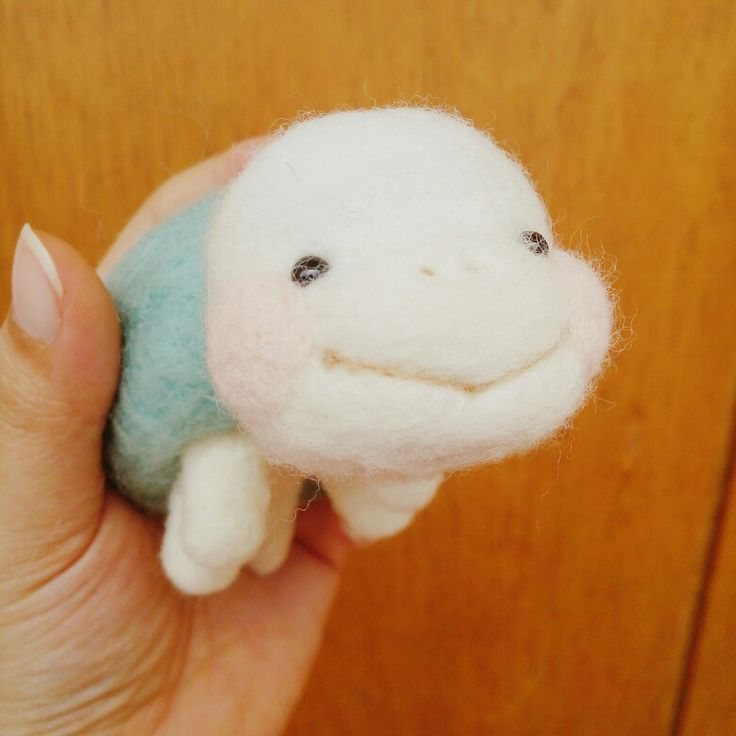 Needle Felted Turtle. Smileeee