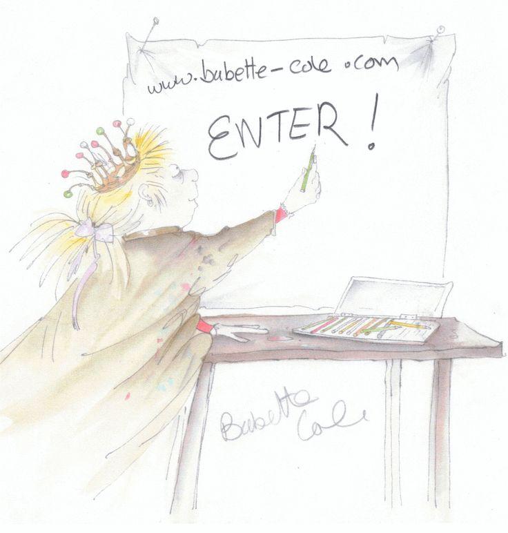 Babette Cole Illustrating - a Self Portrait