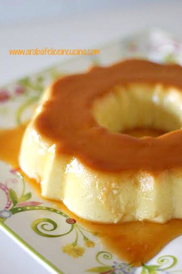 Crème caramel al cocco, in tre ingredienti (senza glutine e...