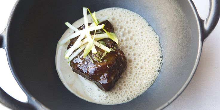 This beautiful braised pork cheek recipe from Bryn Williams is a dish of big flavours, thanks to the slowly braised pork, rich lobster bisqu...