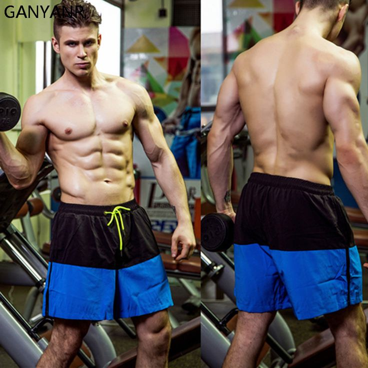 GANYANR Brand Running Shorts Men Gym Basketball Sports Athletic Leggings Tenis Volleyball Crossfit Training Gay Sexy Quick Dry #Affiliate