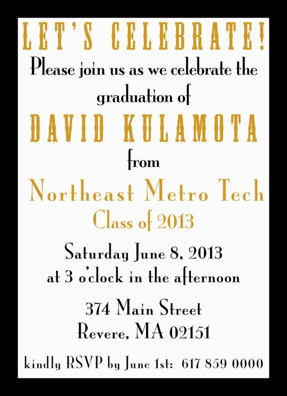 Double Sided Graduation invite.  Digital by GoToGirlSignDesigns, $22.00
