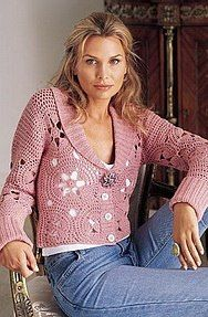 crochet sweater. I want to learn how to make this.