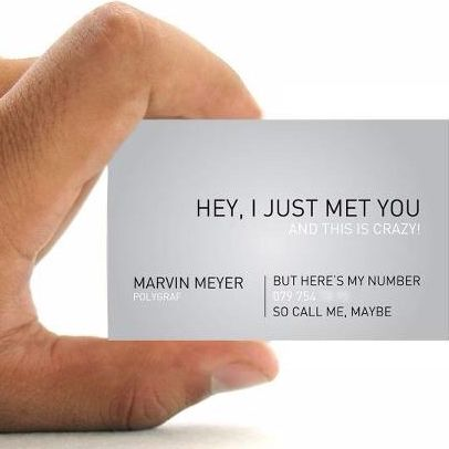 53 best awesome business cards images on pinterest business cards fancy business card call me maybe colourmoves Images