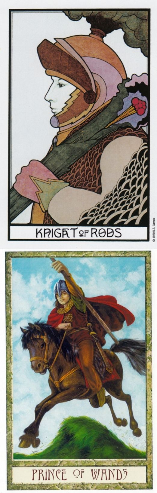Knight of Wands: man of action and anger (reverse). Aquarian Tarot deck and Druid Craft Tarot deck: real free tarot reading, original tarot cards and free tarot cards. New paganism art and cartomancy meanings. #iosapplication #thestar #lovers
