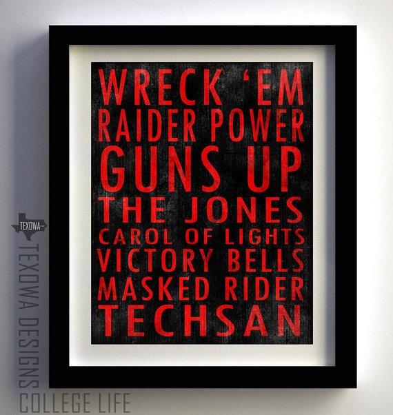 Texas Tech University Red Raiders Subway Scroll