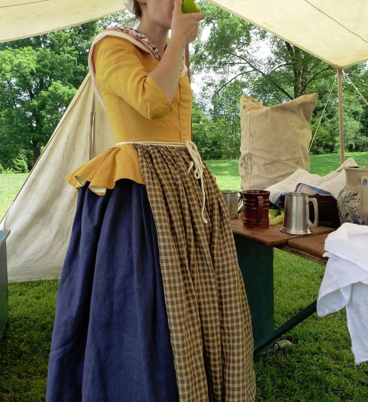 18th Century Colonial DAR Hand-Sewn Gold Linen Jacket Period Historical Costume in Clothing, Shoes & Accessories, Costumes, Reenactment, Theater, Reenactment & Theater | eBay