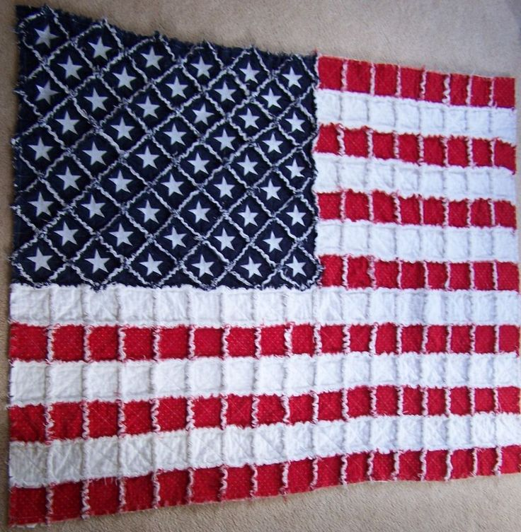 Flag Rag Quilt Pattern Free Cafca Info For