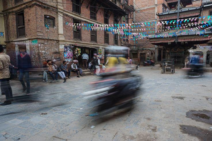 Scooting through Kathmandu, Nepal