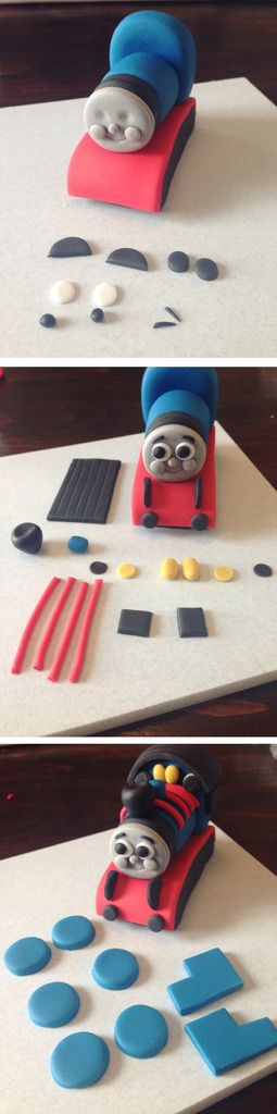 My last Thomas post got such a positive response that when a customer ordered a Thomas cake I knew I had to create this Thomas Cake Topper Tutorial.