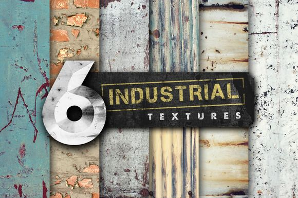 6 Industrial Textures by Set Sail Studios on Creative Market