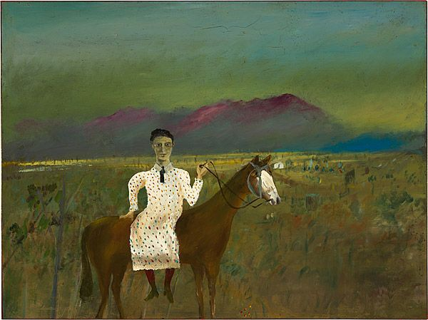 Sidney Nolan 1946-7 Ned Kelly Series - Steve Hart dressed as a girl 1947