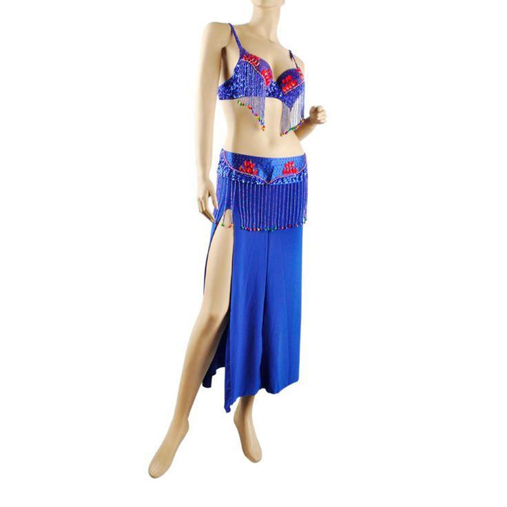 Opentip.com: BellyLady Professional Belly Dance Costume, Fringe Bra, Waist Belt And Skirt