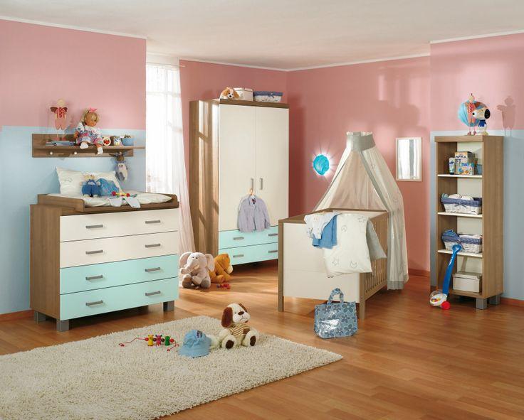 Popular PAIDI LEO Babyzimmer mit blauen Farbakzenten Flexibel in vier Schubkastenfarben PAIDI Kinderwelten