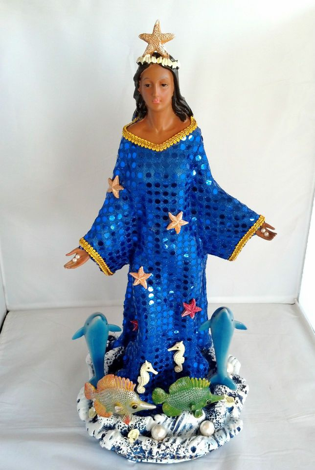 19 Inch Statue Orisha Yemaya Yoruba Santeria Virgen de Regla Yemoja Figurine