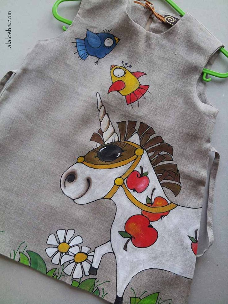ALALOSHA: VOGUE ENFANTS: Must Have of the Day: Hand painted clothing by InGAartWork
