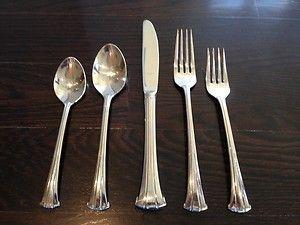 4 Dinner Forks Gorham Monet Glossy18/10 Stainless Steel ... |Gorham Flatware Patterns Stainless Steel
