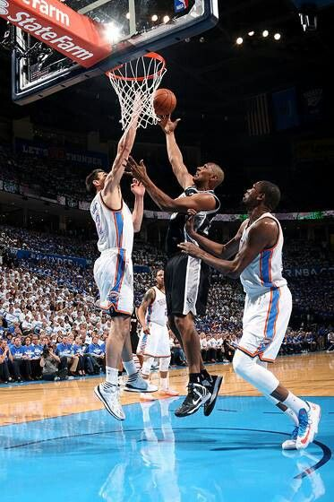 Boris Diaw Spurs vs Thunders Western Conference Finals Playoffs 2014