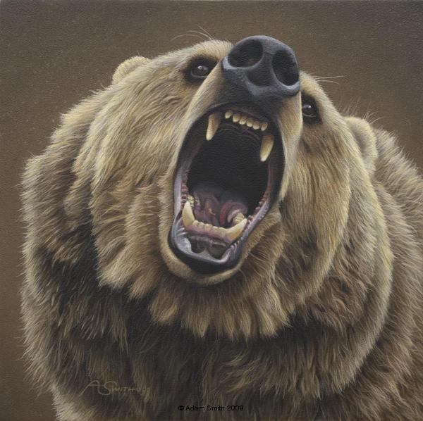 White Wolf: Daniel Smith - Amazing realistic American wildlife artist.