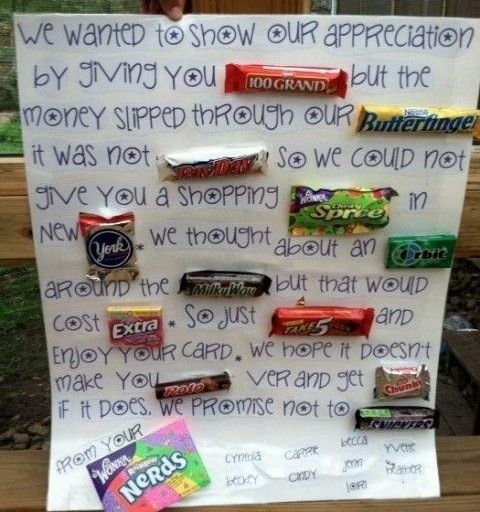 Homemade Card - Candy Gift