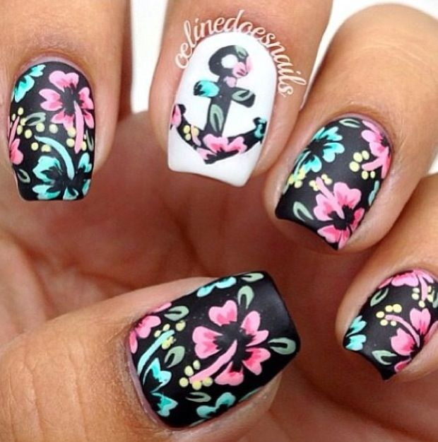 now it has become one of elements of fashion designs anchor gains its popularity in nail design for its