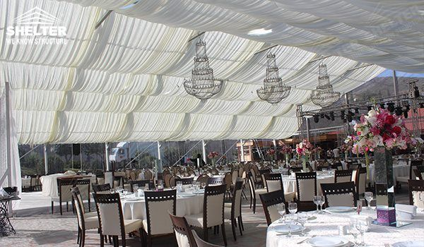 Clear Tent - wedding marquee - pavilion for luxury wedding ceremony - canopy for outdoor party - wedding on seaside - in hotel - Shelter aluminum structures for sale (299)