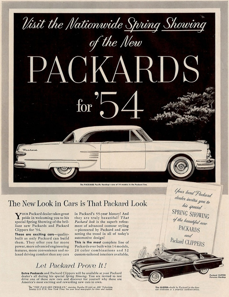 Best Packard Car Brochures Images On   Old School