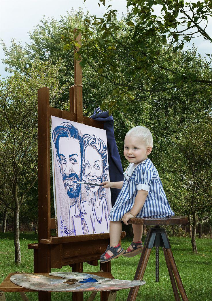 Každé dítě je na začátku života jedinečným umělcem. V životě však o tuto schopnost přijde mnoho lidí. Zmizí v nich kreativita a proto chodí do práce, která je nebaví a žijí život bez vášně - prostě pouze přežívají...Tuto fotografii jsem fotil v létě, ale finální podoba vznikla až v těchto dnech. Bylo potřeba sehnat rekvizity od mistra malíře. Děkuji panu Stratilovi za prostor a zapůjčení stojanu, palety i jiných rekvizit, které se mi do kompozice nakonec nedostaly.