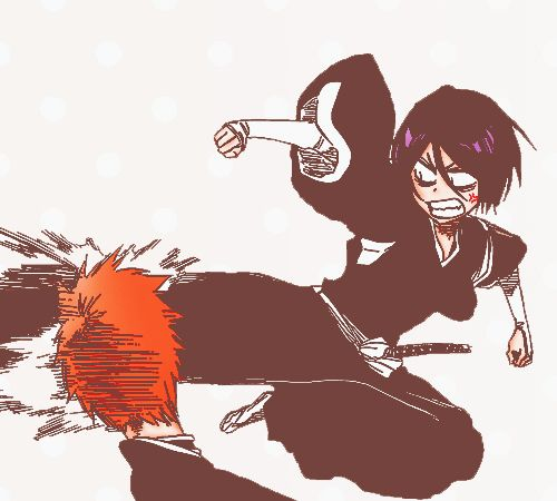 Bleach - Ichigo and Rukia. LOL They can go from awesome to immature in seconds.
