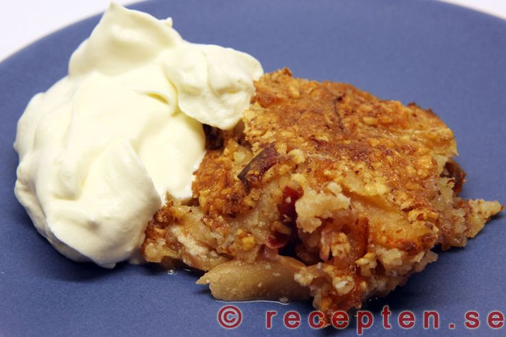 Fransk äppelkaka - Mycket gott och enkelt recept på äppelkaka som du gör enkelt i din matberedare.