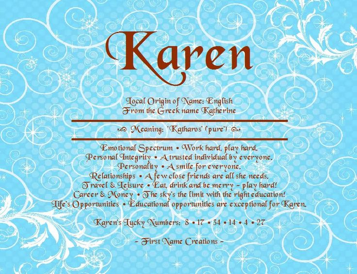 Images of the Name Karen - WOW.com - Image Results