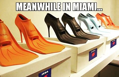 Meanwhile in Miami part of hurricane preparedness means we take Cat 5 Hurricane Irma seriously but we keep our sense of humor while doing so. We pray it all works out. Laughter helps alleviate a very stress filled situation as we brace for what could be a more devastating storm than Harvey. It's now one of the most powerful storms ever recorded in the Atlantic Ocean with winds of 185mph & gusts over 200mph; it's not far off from the all-time record hurricane wind speed of 190 mph  So if…